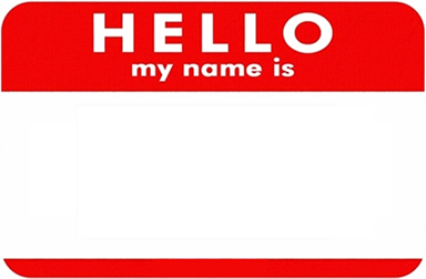 Club Promoter Name Tag